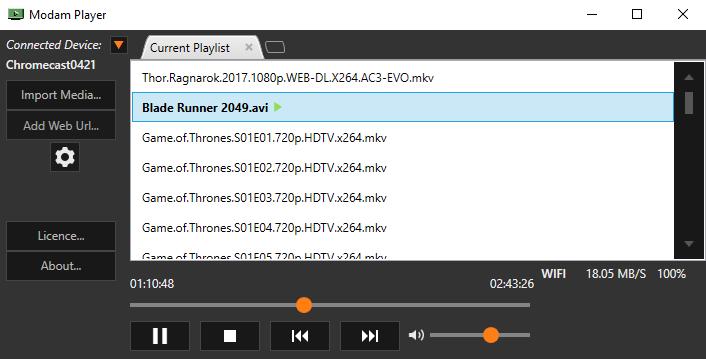 Modam Player full screenshot